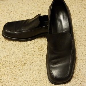 Men's black loafers
